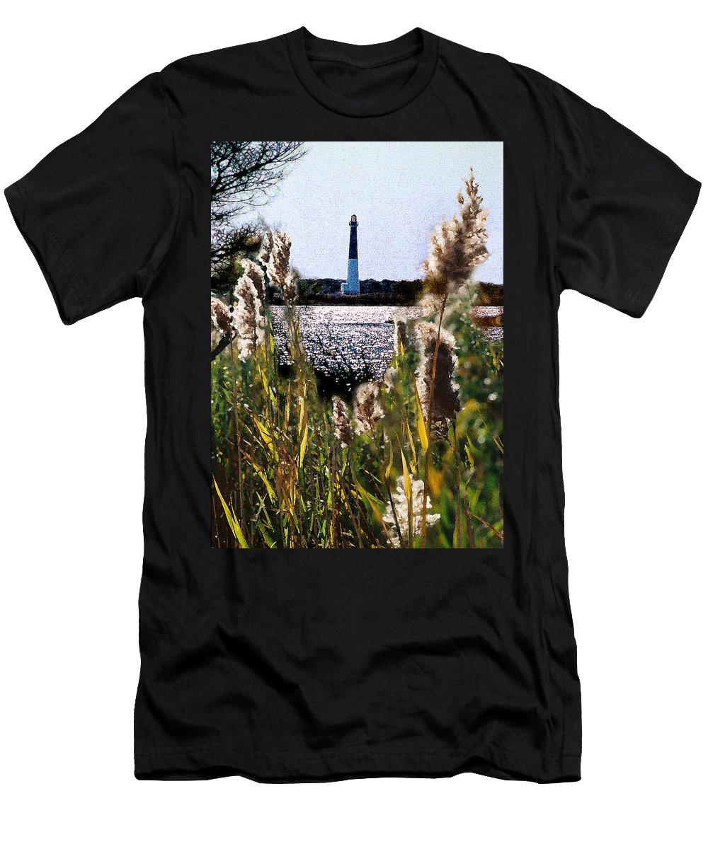 Barnegat Men's T-Shirt (Athletic Fit) featuring the digital art Barnegat Bay by Steve Karol