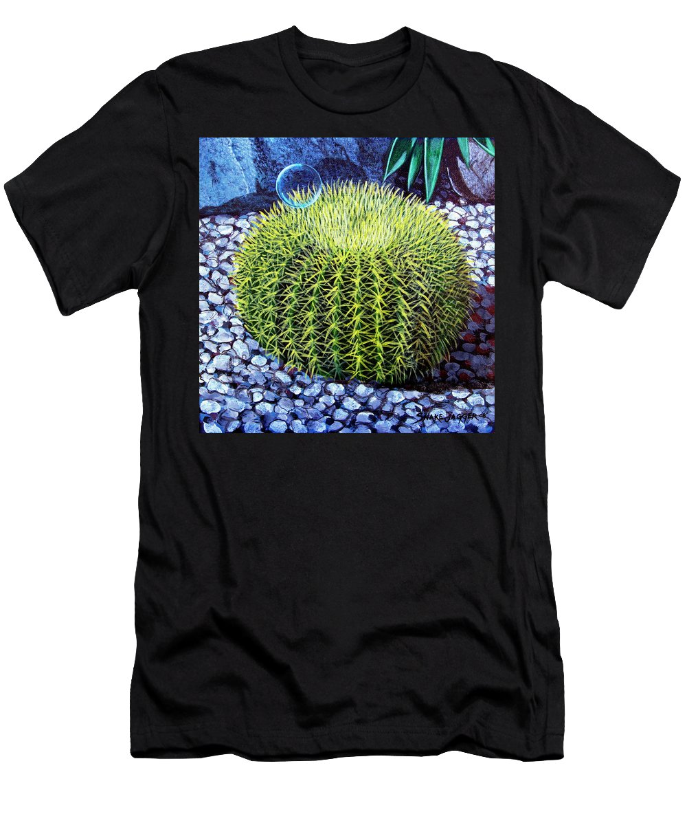 Nature Men's T-Shirt (Athletic Fit) featuring the painting Barrel Bubble by Snake Jagger