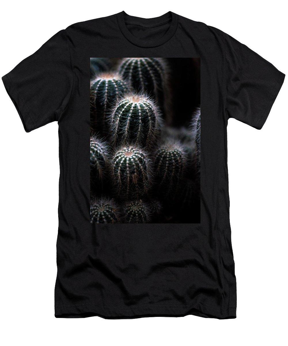 Brrel Cacus Men's T-Shirt (Athletic Fit) featuring the photograph Barrel Cactus by Laurie Paci