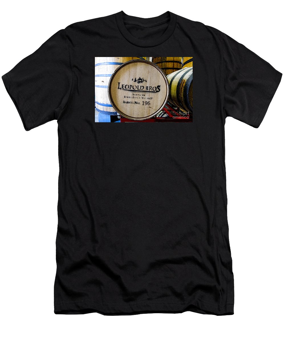 New Belgium Brewery Men's T-Shirt (Athletic Fit) featuring the photograph Barrel No.196 by Keith Ducker