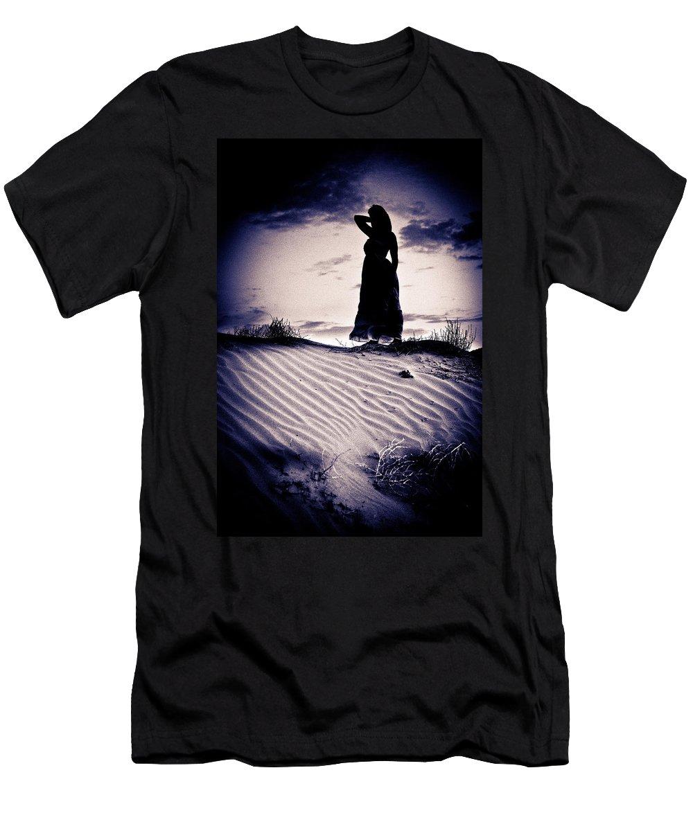 Dune Men's T-Shirt (Athletic Fit) featuring the photograph Barren Dream by Scott Sawyer