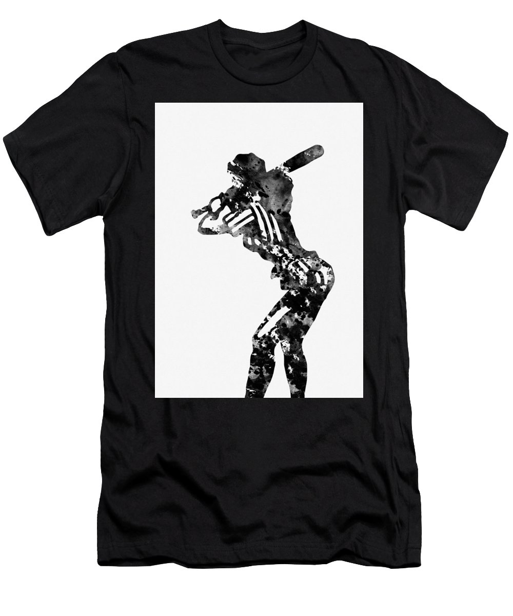 Baseball Player Men's T-Shirt (Athletic Fit) featuring the digital art Baseball Player by Erzebet S