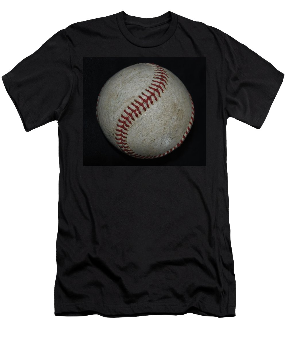 Pop Art Men's T-Shirt (Athletic Fit) featuring the photograph Baseball by Rob Hans