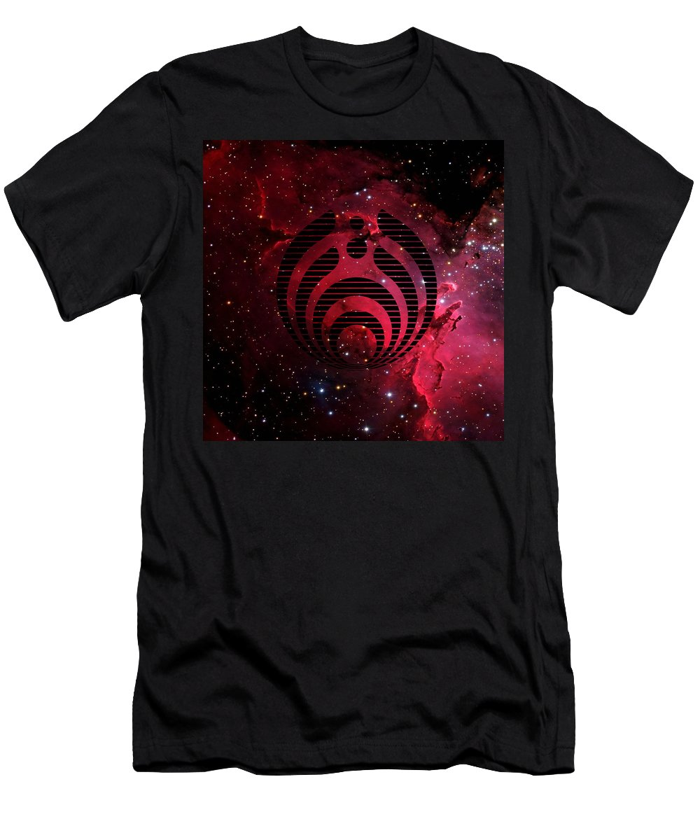 Music Men's T-Shirt (Athletic Fit) featuring the digital art Bassnectar Galaxy Nebula by Retno Musyakimah