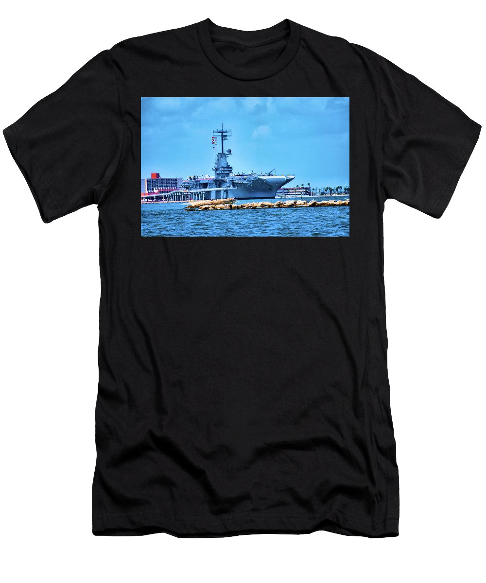 Water Men's T-Shirt (Athletic Fit) featuring the photograph Battle Ship by Richard Jenkins