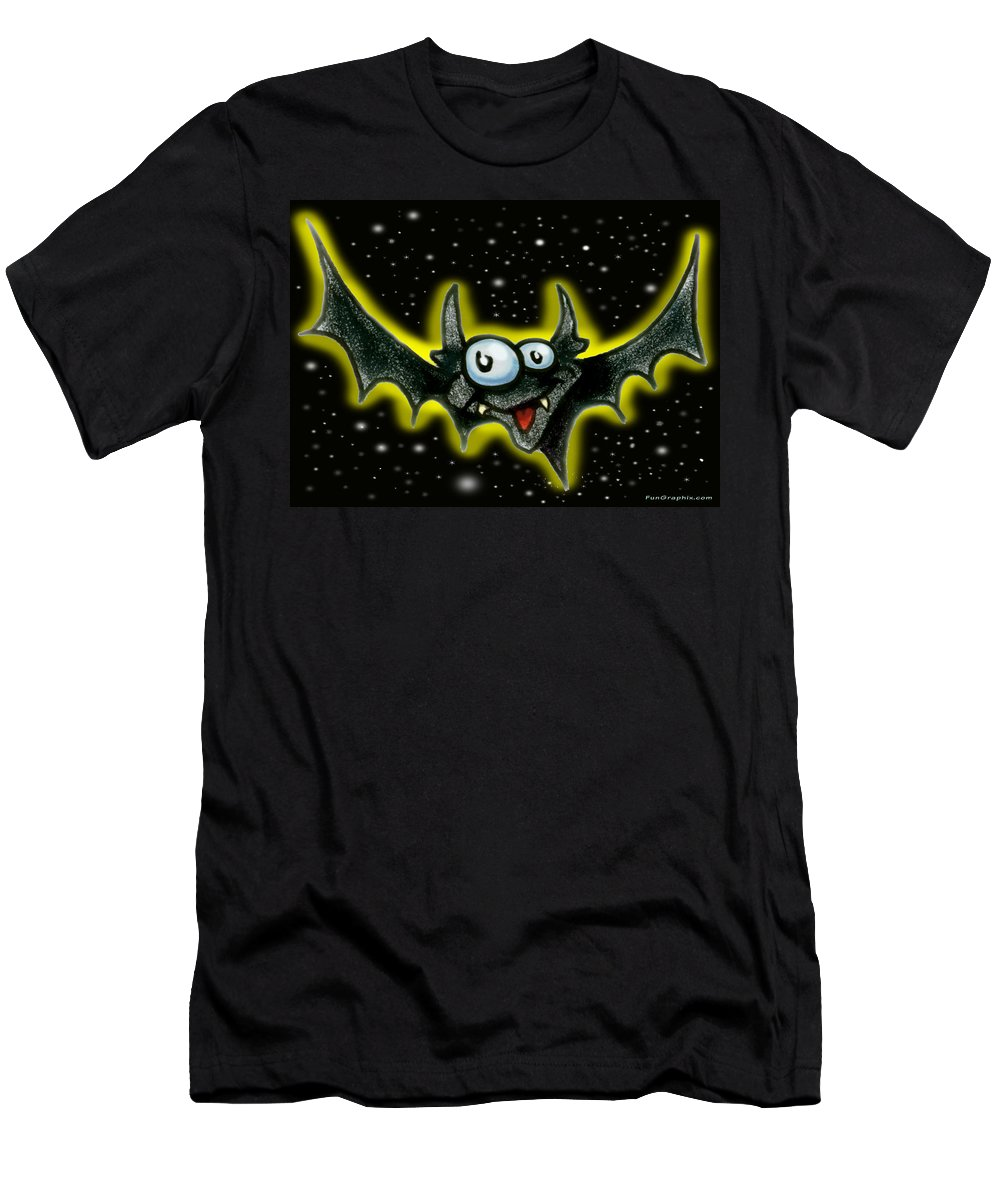 Bat Men's T-Shirt (Athletic Fit) featuring the greeting card Batty by Kevin Middleton