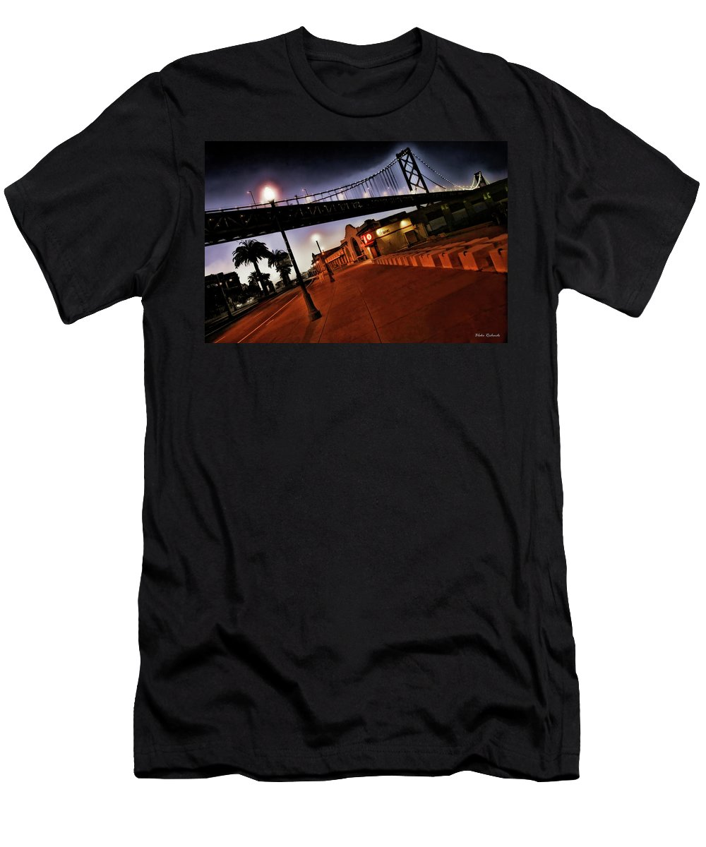 Bay Bridge Men's T-Shirt (Athletic Fit) featuring the photograph Bay Bridge by Blake Richards