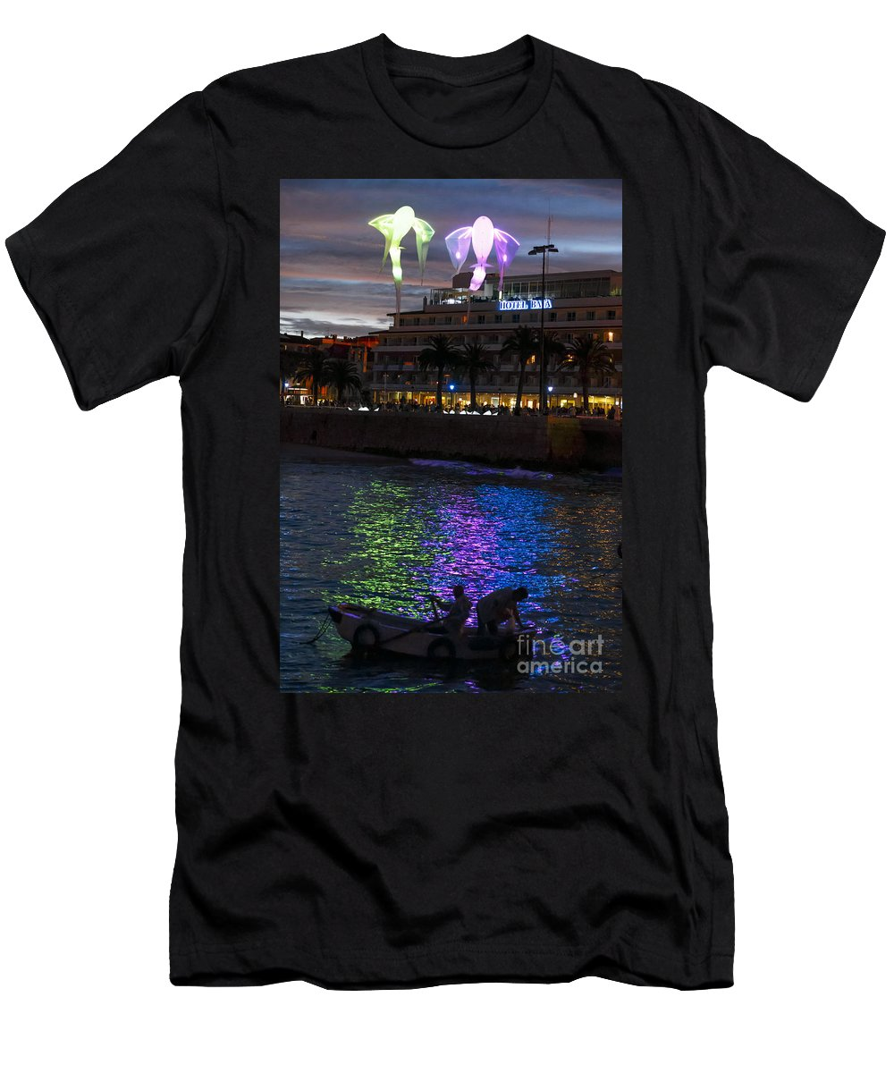 Bay Men's T-Shirt (Athletic Fit) featuring the photograph Bay Of Cascais, Portugal by Babak Tafreshi