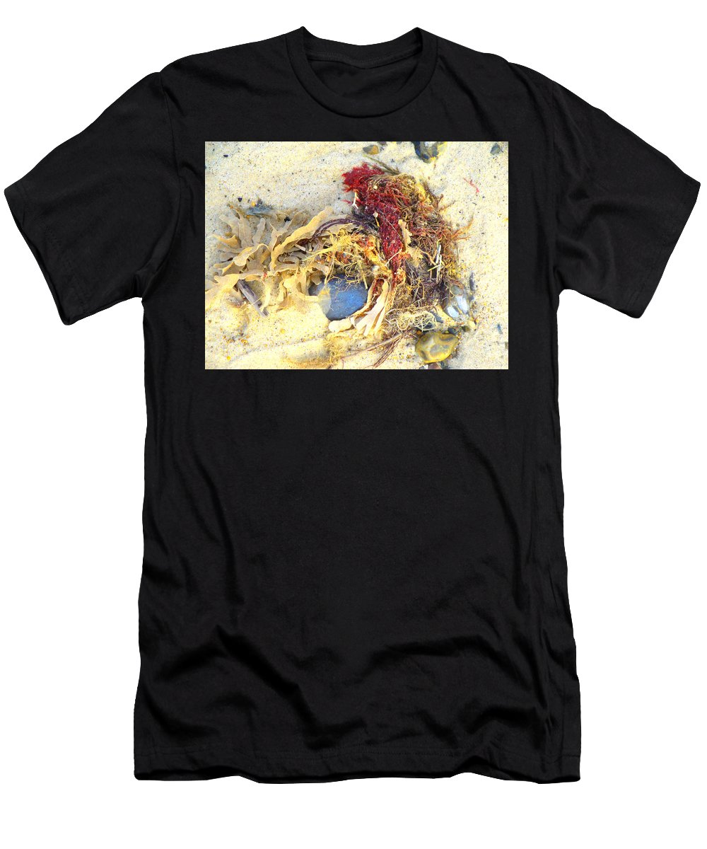 Beach Men's T-Shirt (Athletic Fit) featuring the photograph Beach Art by Susan Baker