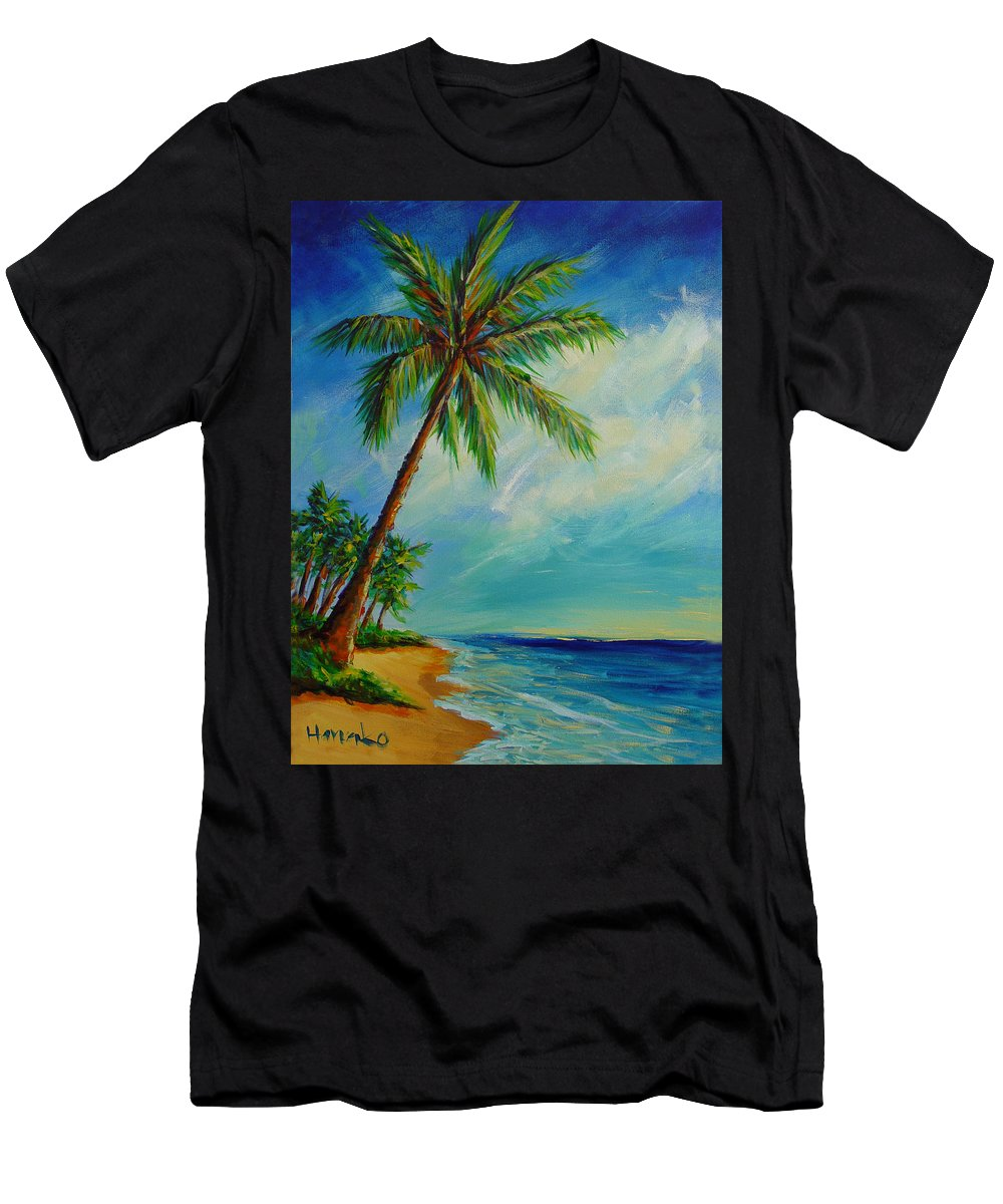 Beach Men's T-Shirt (Athletic Fit) featuring the painting Beach Day by Hanako Hawaii