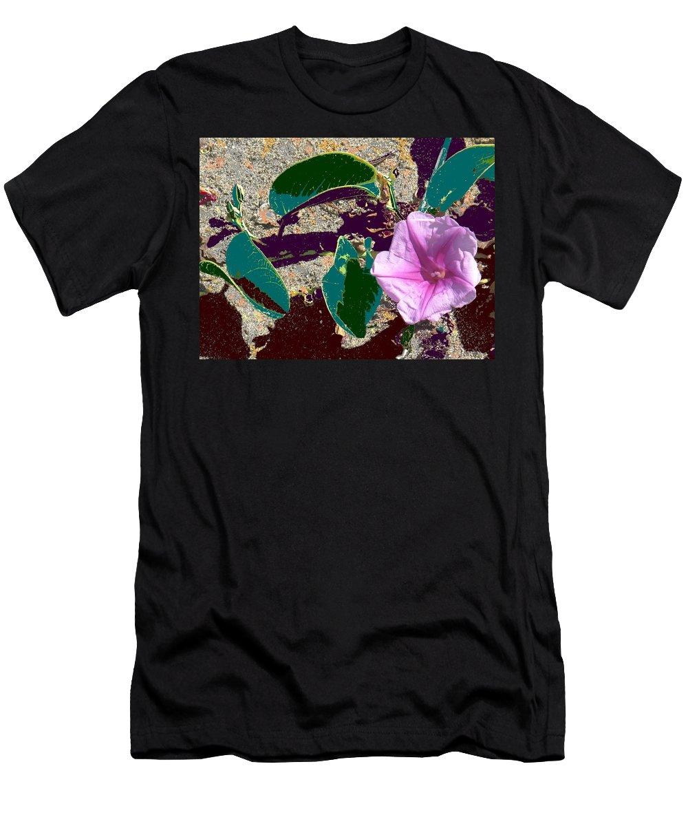 Beach Men's T-Shirt (Athletic Fit) featuring the photograph Beach Flower by Ian MacDonald
