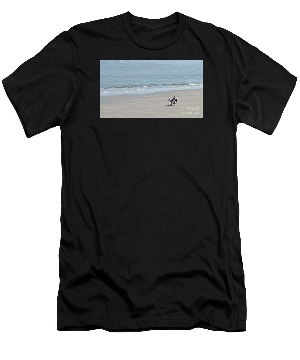 Beach Men's T-Shirt (Athletic Fit) featuring the photograph Beach Ride by Linda Vodzak