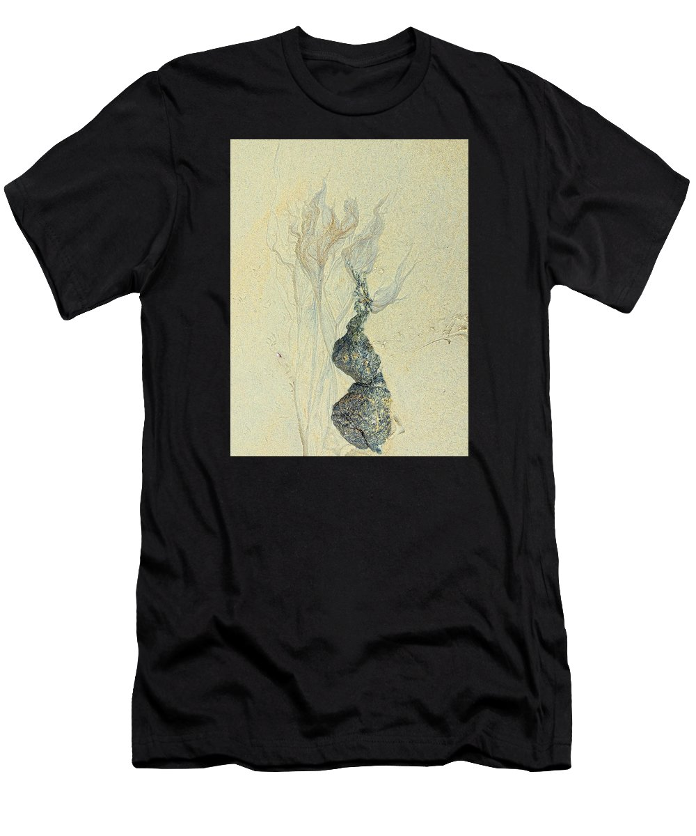 Nature Men's T-Shirt (Athletic Fit) featuring the photograph Beach Sand 3 by Marcia Lee Jones
