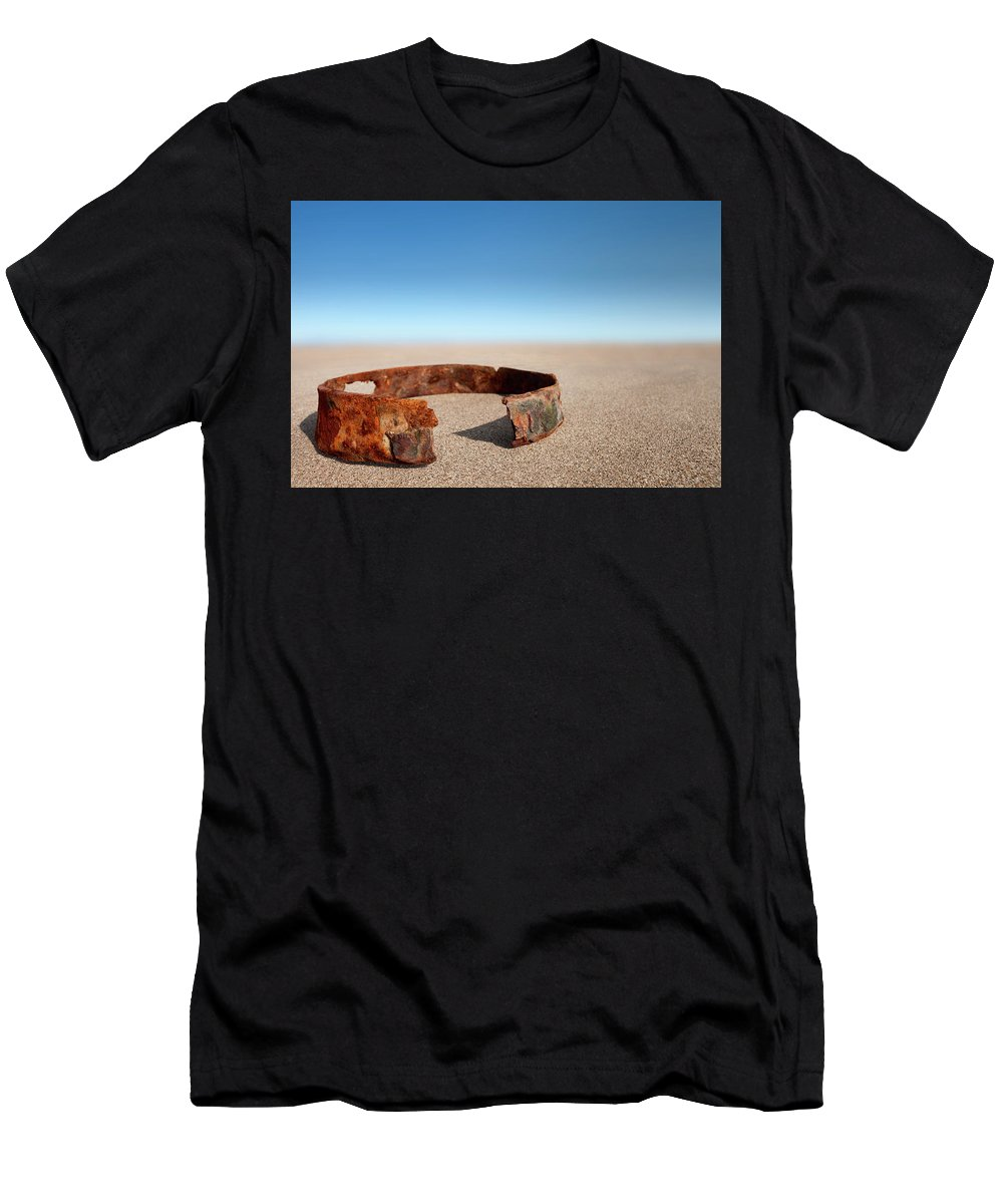 Beach Men's T-Shirt (Athletic Fit) featuring the photograph Beach Studio by David Nightingale