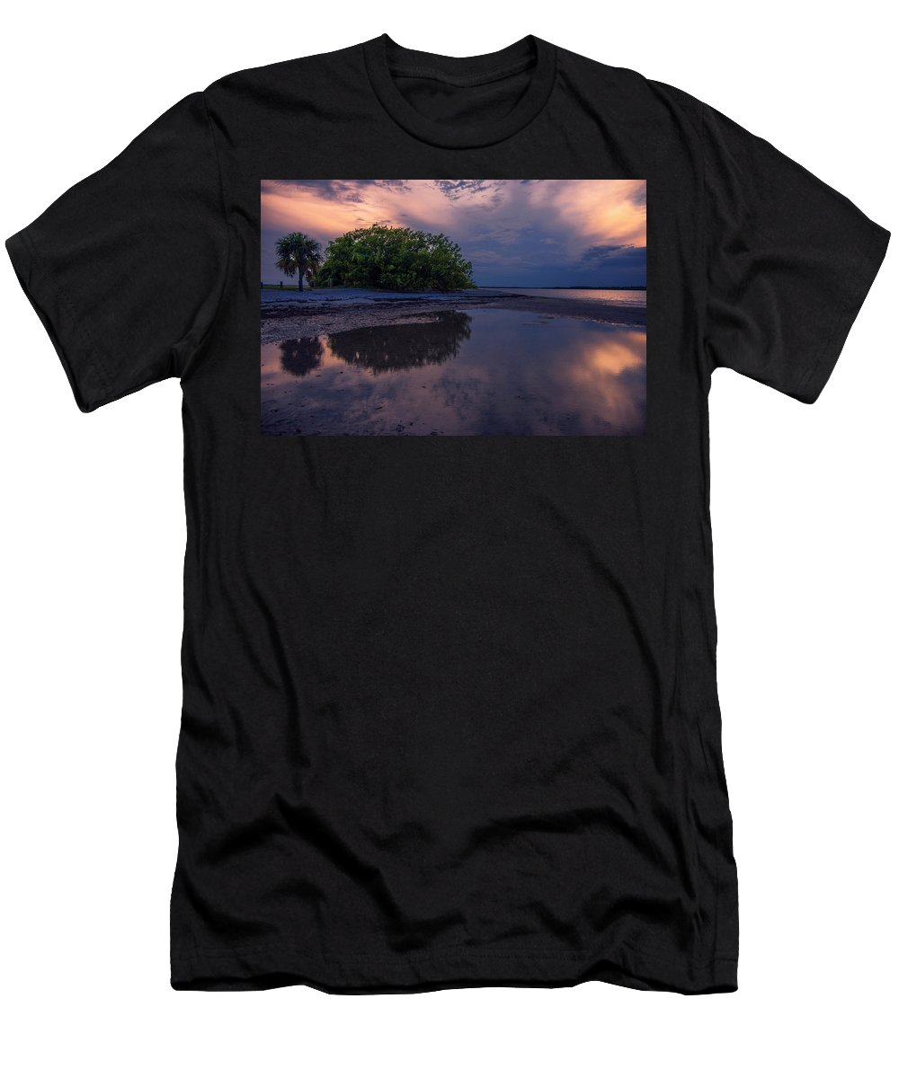 Trees Men's T-Shirt (Athletic Fit) featuring the photograph Beach Trees by Michael Frizzell