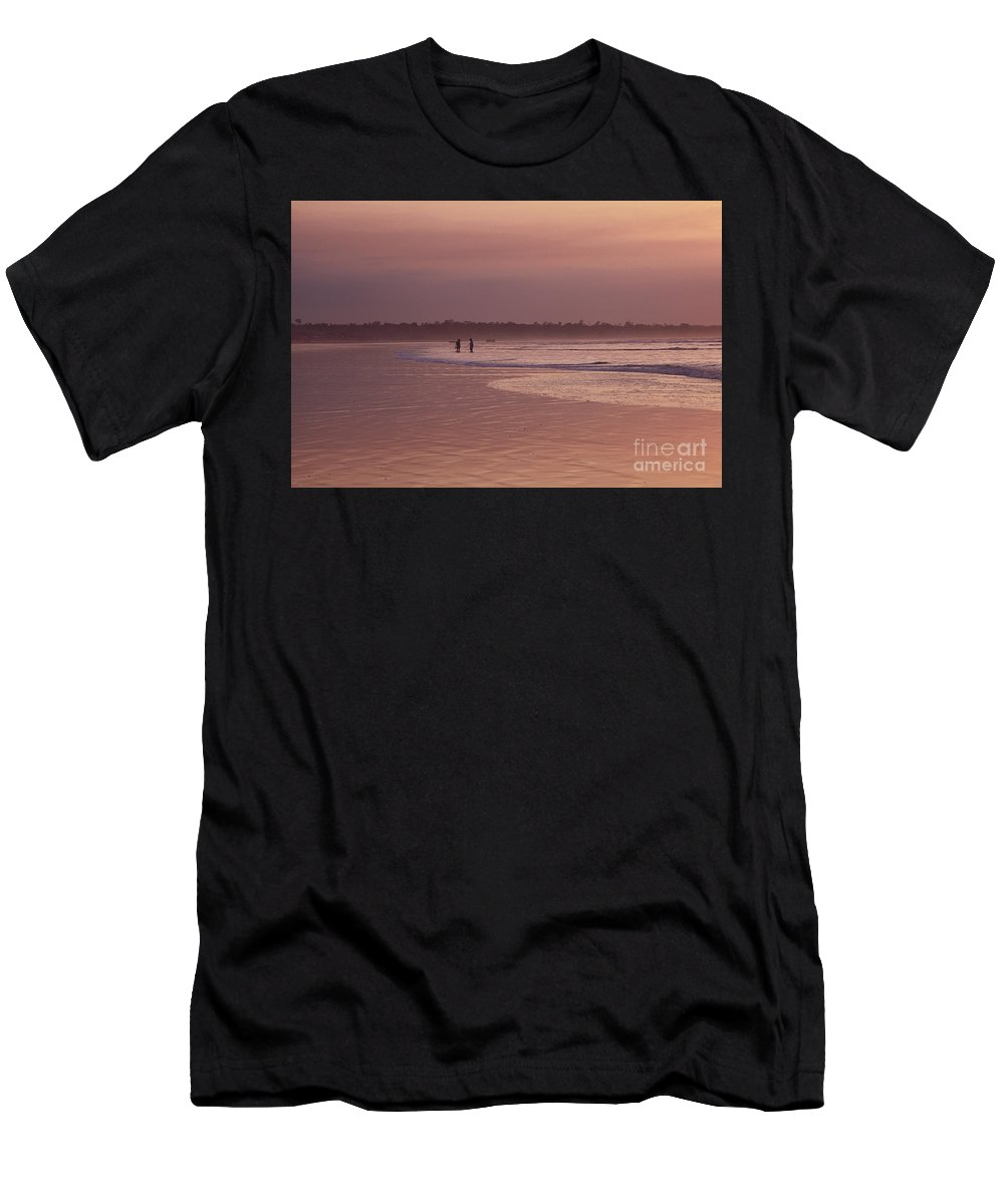 Ecuador Men's T-Shirt (Athletic Fit) featuring the photograph Beachcombers by Kathy McClure