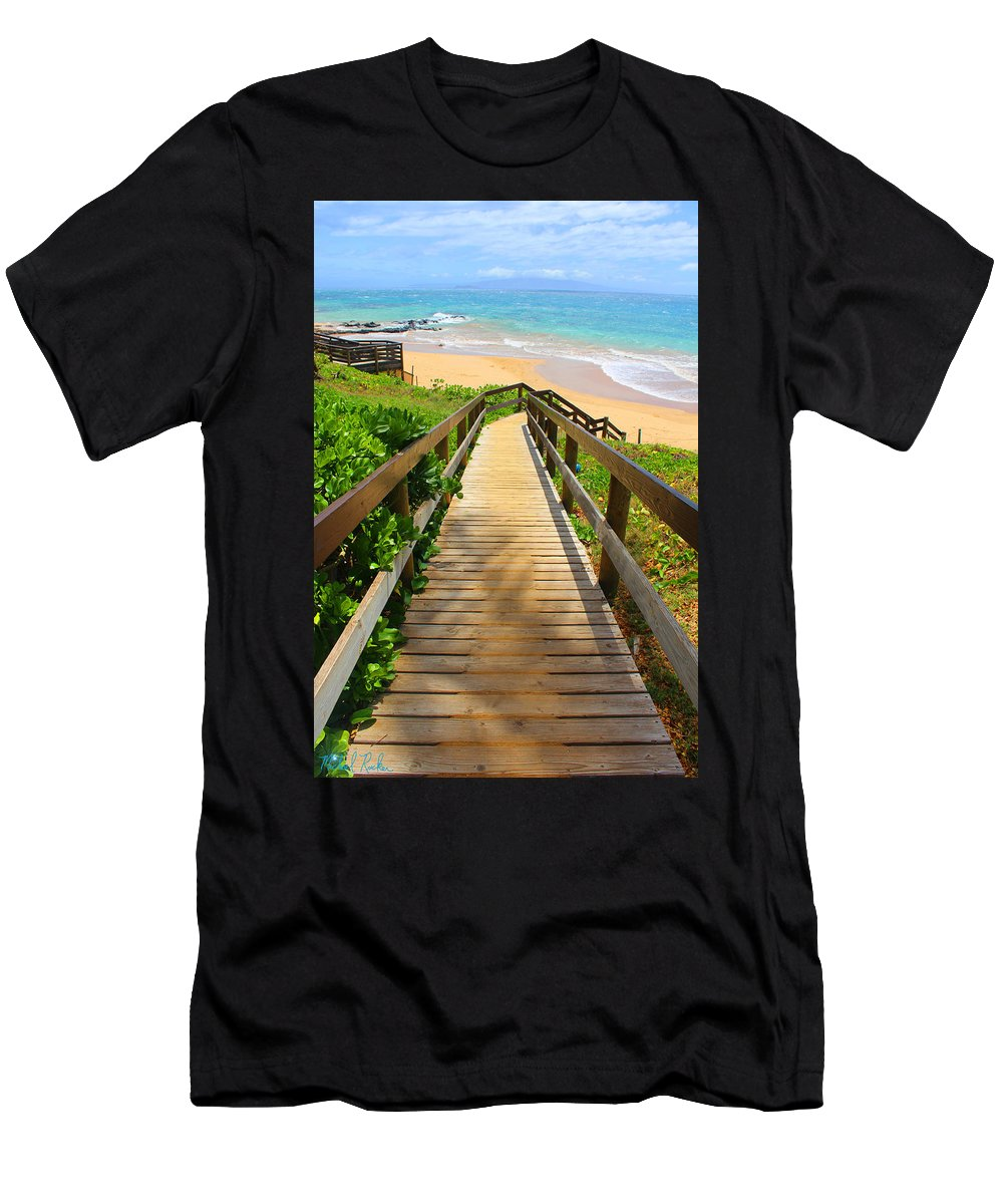 Maui Men's T-Shirt (Athletic Fit) featuring the photograph Beaches Of Maui by Michael Rucker