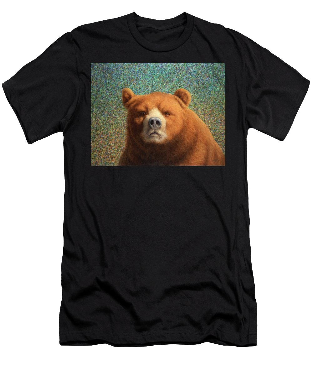 Bear Men's T-Shirt (Athletic Fit) featuring the painting Bearish by James W Johnson