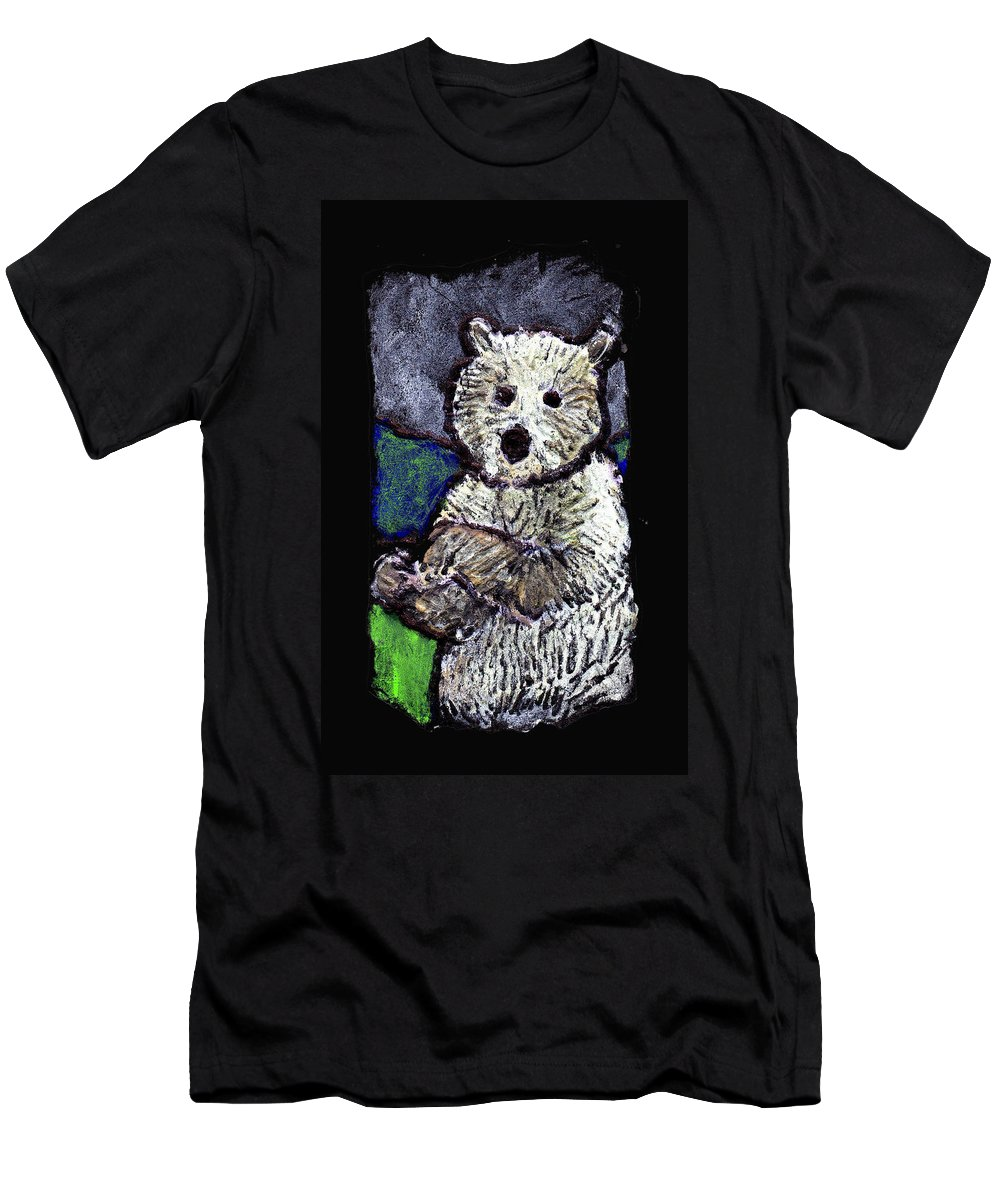 Bear Men's T-Shirt (Athletic Fit) featuring the painting Bearly Scary by Wayne Potrafka