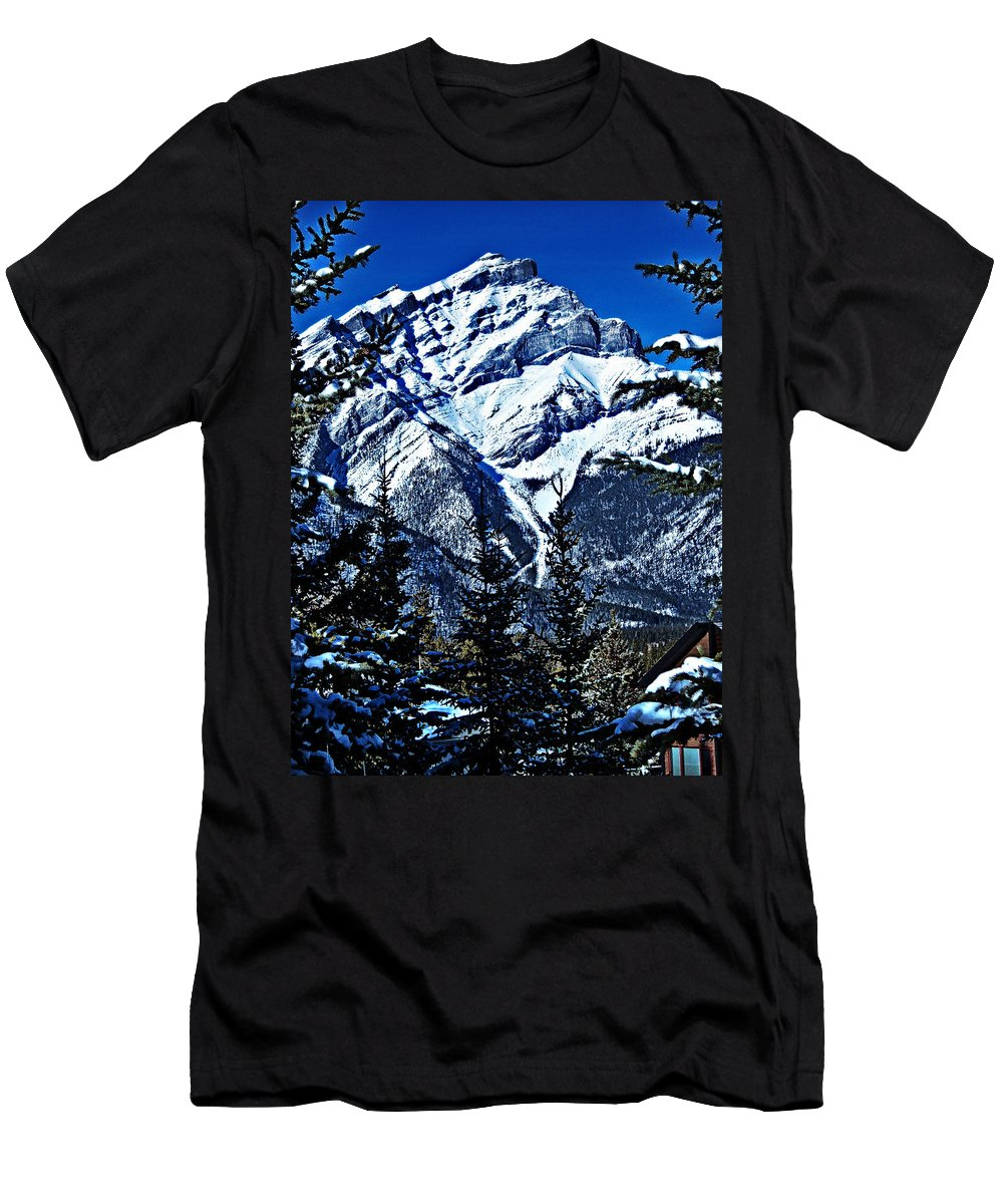 Banff Men's T-Shirt (Athletic Fit) featuring the photograph Beautiful Banff by Jo-Anne Gazo-McKim
