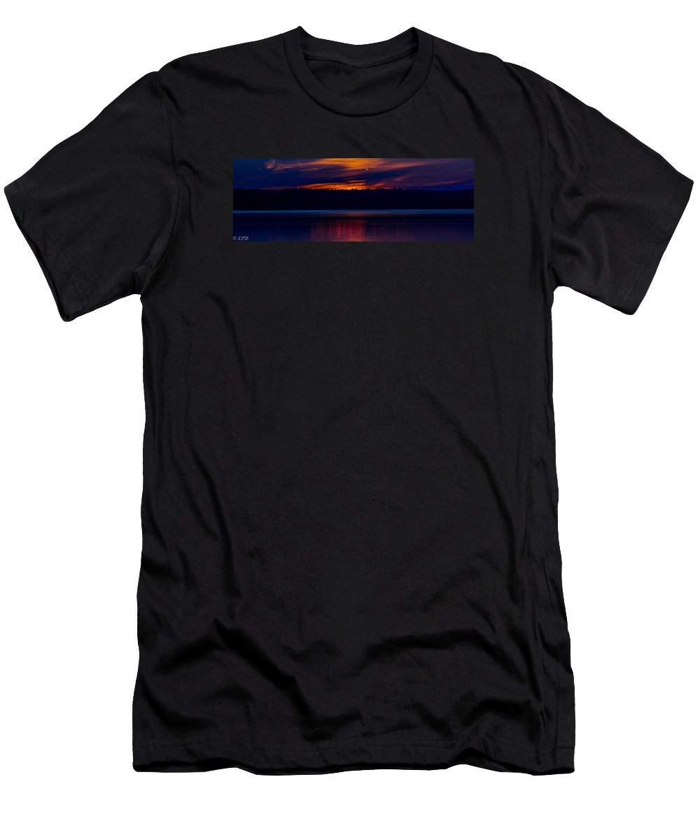 Indian Lake Men's T-Shirt (Athletic Fit) featuring the photograph Beautiful Blue by Eric Davenport