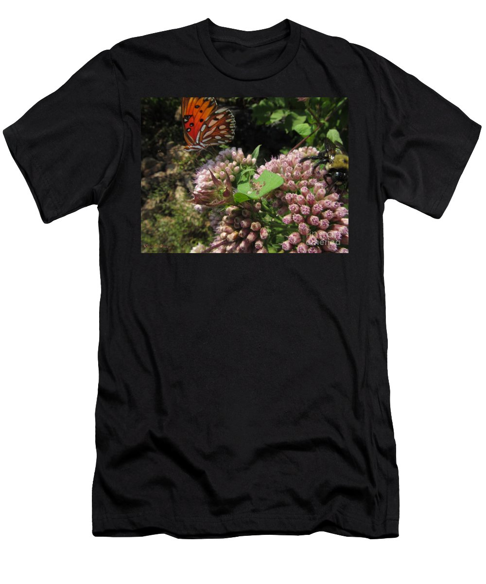 Insects Men's T-Shirt (Athletic Fit) featuring the photograph Beautiful by Donna Brown