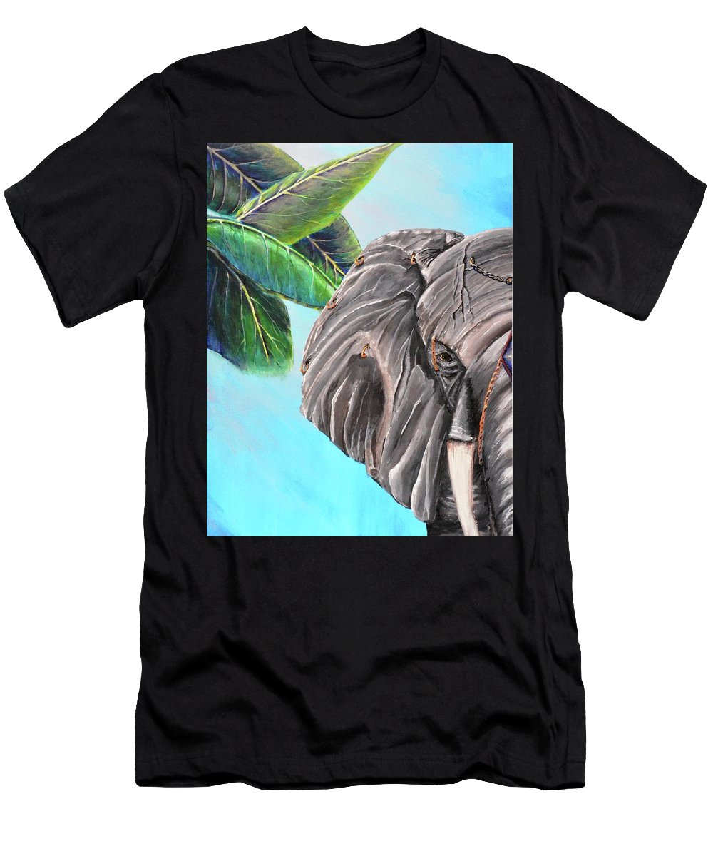 Jewelry Men's T-Shirt (Athletic Fit) featuring the painting Beautiful Giant by Medea Ioseliani