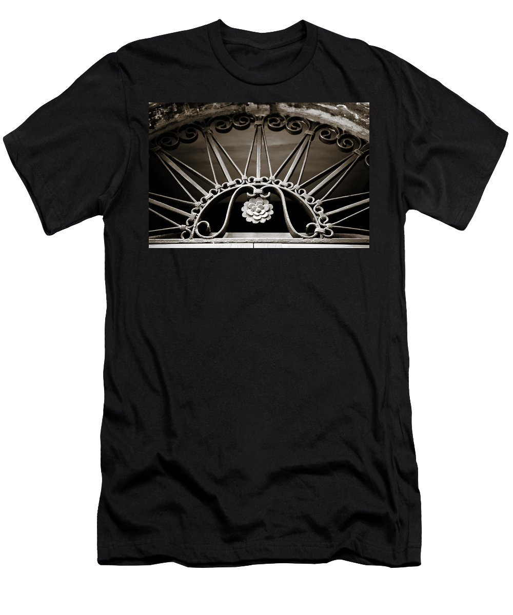 Beautiful Men's T-Shirt (Athletic Fit) featuring the photograph Beautiful Italian Metal Scroll Work 2 by Marilyn Hunt