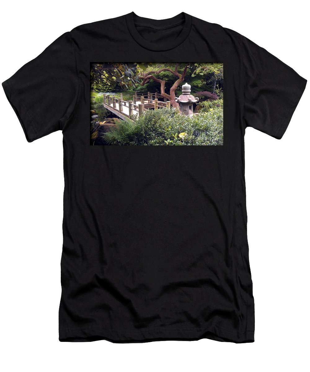 San Francisco Men's T-Shirt (Athletic Fit) featuring the photograph Beautiful Park In San Francisco by Joy Patzner