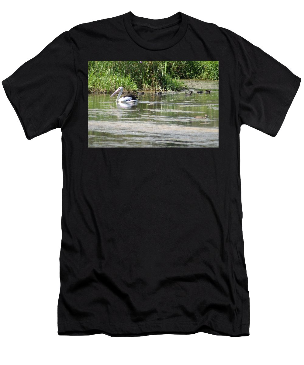 Pelican Men's T-Shirt (Athletic Fit) featuring the photograph Beautiful Pelican by Brian Leverton