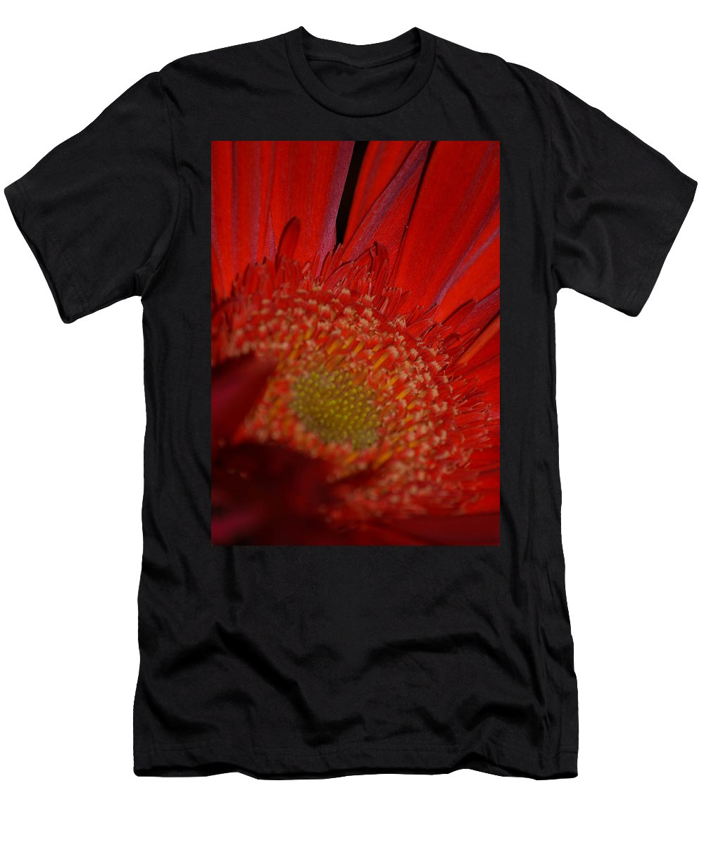 Flower Men's T-Shirt (Athletic Fit) featuring the photograph Beautiful Red by Miranda Strapason