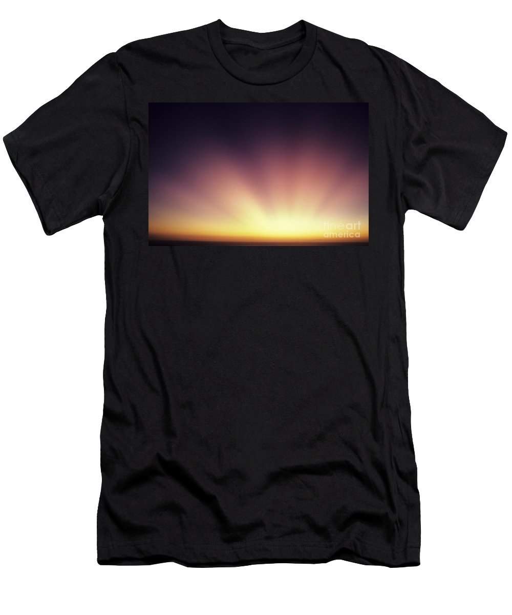 Air Art Men's T-Shirt (Athletic Fit) featuring the photograph Beautiful Sun Rays by Larry Dale Gordon - Printscapes