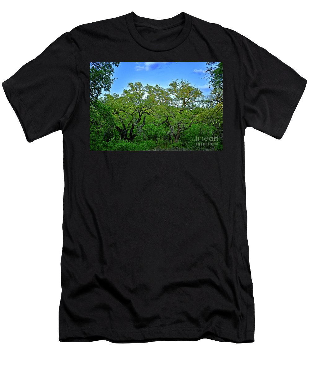 Beautiful Texas View 2 Men's T-Shirt (Athletic Fit) featuring the photograph Beautiful Texas View 2 by Ray Shrewsberry