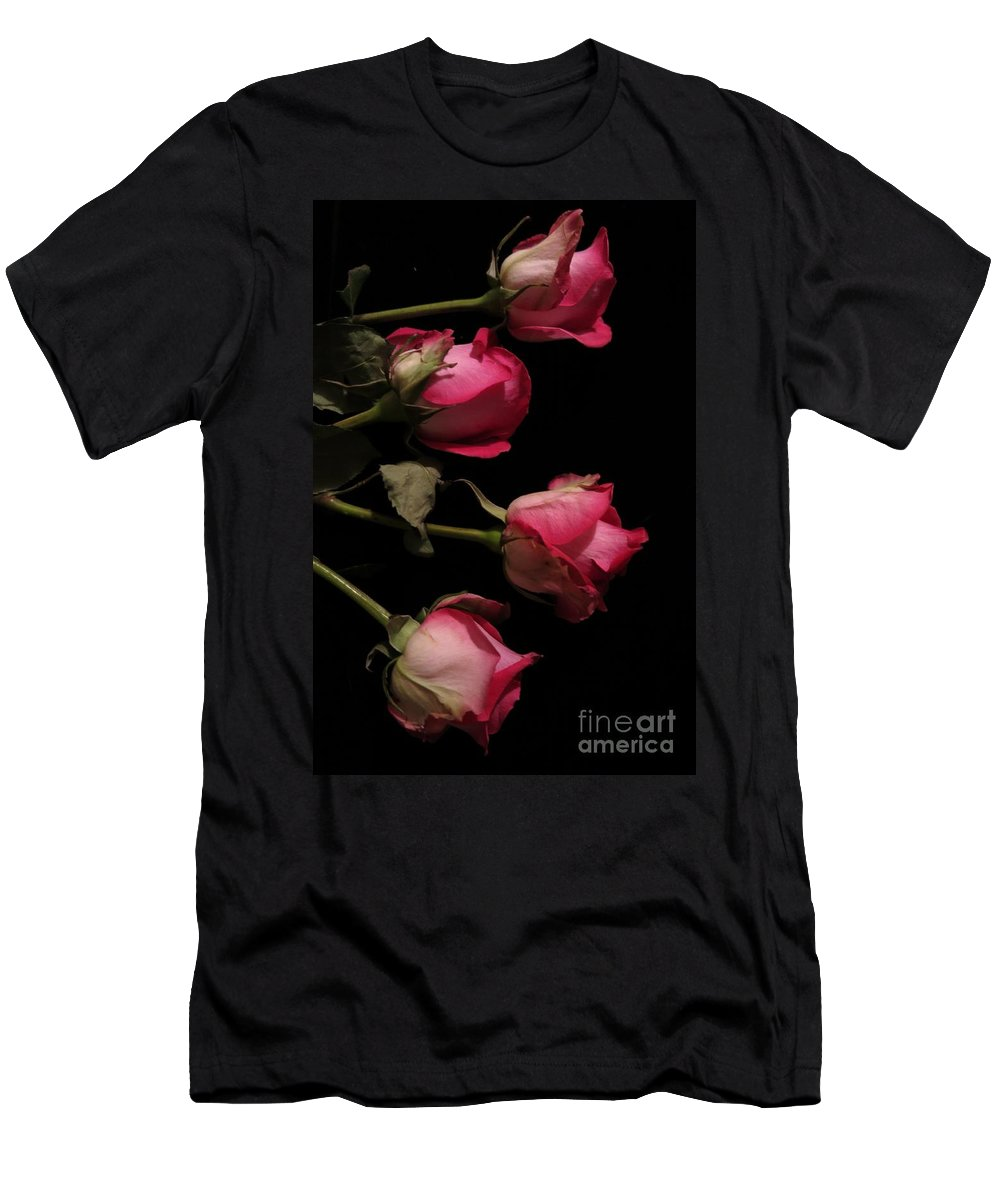 Floral Men's T-Shirt (Athletic Fit) featuring the photograph Beautiful Two Tone Roses 4 by Tara Shalton