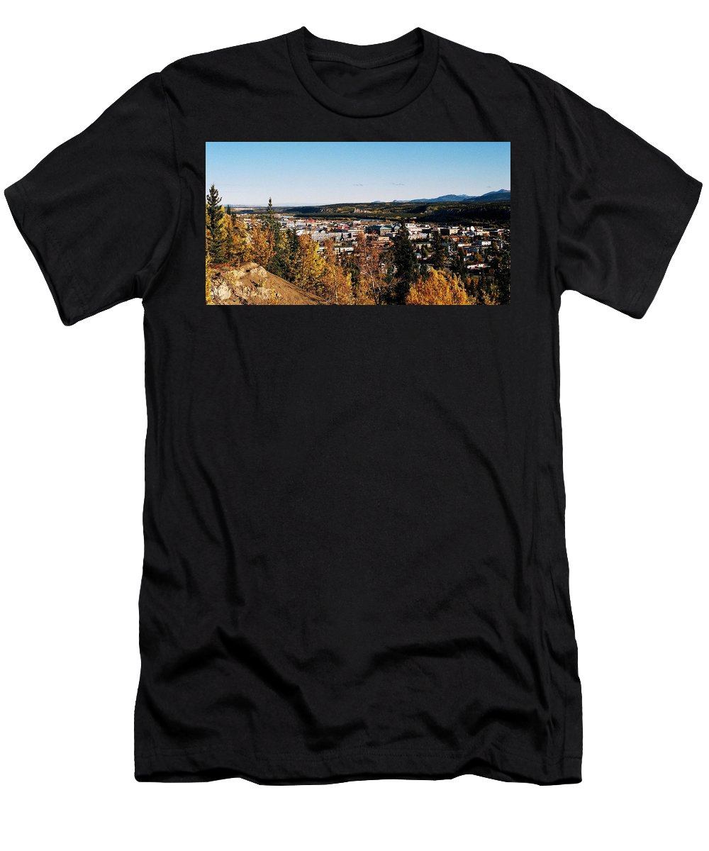 North America Men's T-Shirt (Athletic Fit) featuring the photograph Beautiful Whitehorse ... by Juergen Weiss