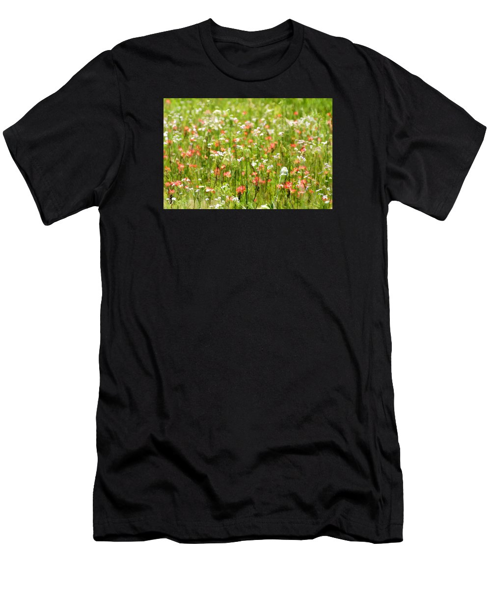 Spring Men's T-Shirt (Athletic Fit) featuring the photograph Beauty Is Spring by Carolyn Fletcher