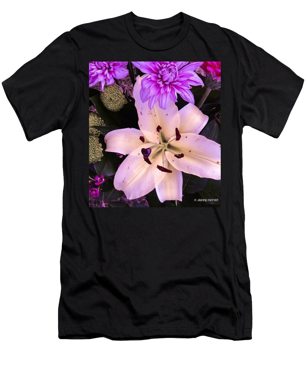 Flowers Men's T-Shirt (Athletic Fit) featuring the photograph Beauty by Mary Sword