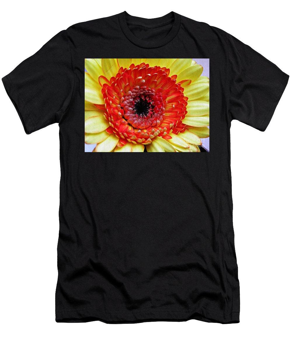 Gerber Men's T-Shirt (Athletic Fit) featuring the photograph Beauty's Dark Center by Sarah Loft