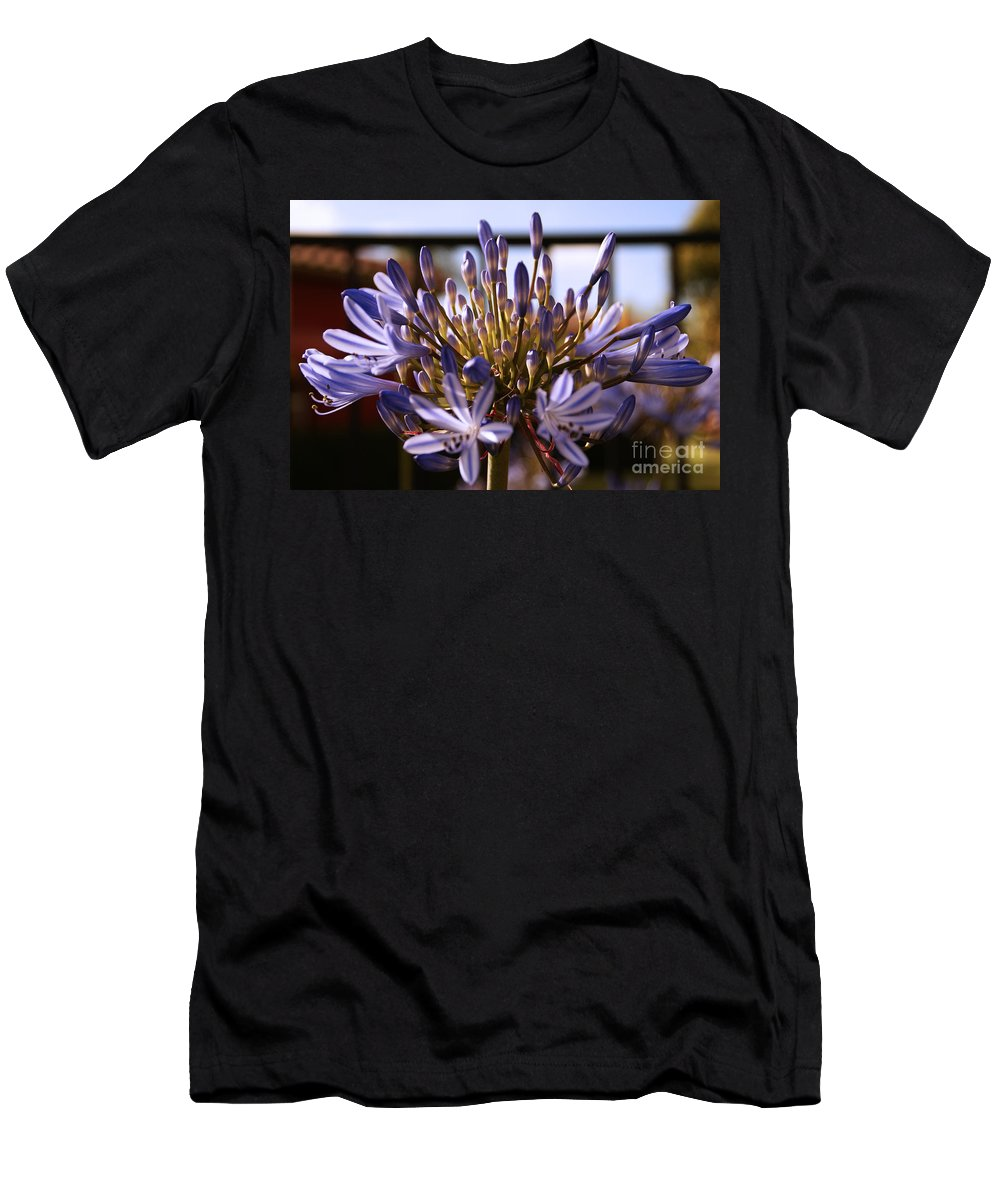 Floral Men's T-Shirt (Athletic Fit) featuring the photograph Becoming Beautiful by Linda Shafer