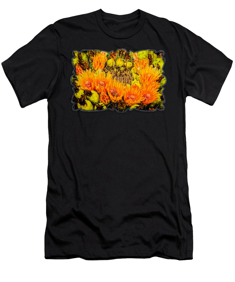 Arizona Men's T-Shirt (Athletic Fit) featuring the photograph Bee In A Bonnet Op57 by Mark Myhaver