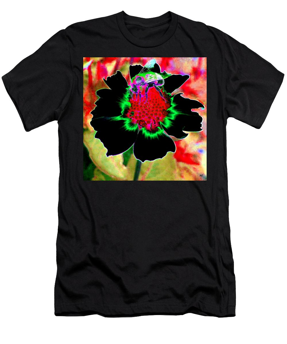 Bee Men's T-Shirt (Athletic Fit) featuring the digital art Beedazzling by Will Borden