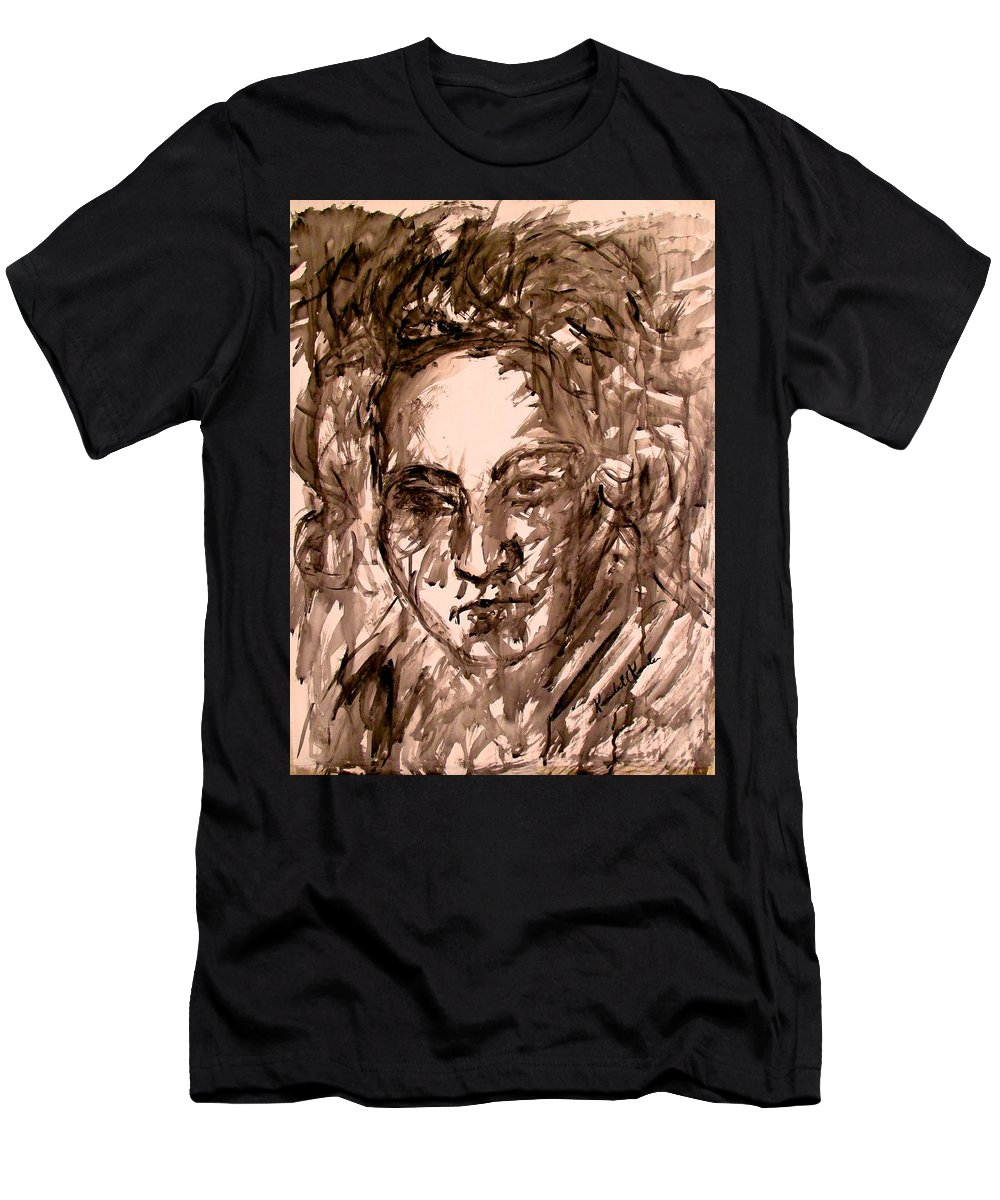 Beethoven Paintings For Sale Men's T-Shirt (Athletic Fit) featuring the painting Beethoven Energy Stage One by Kendall Kessler