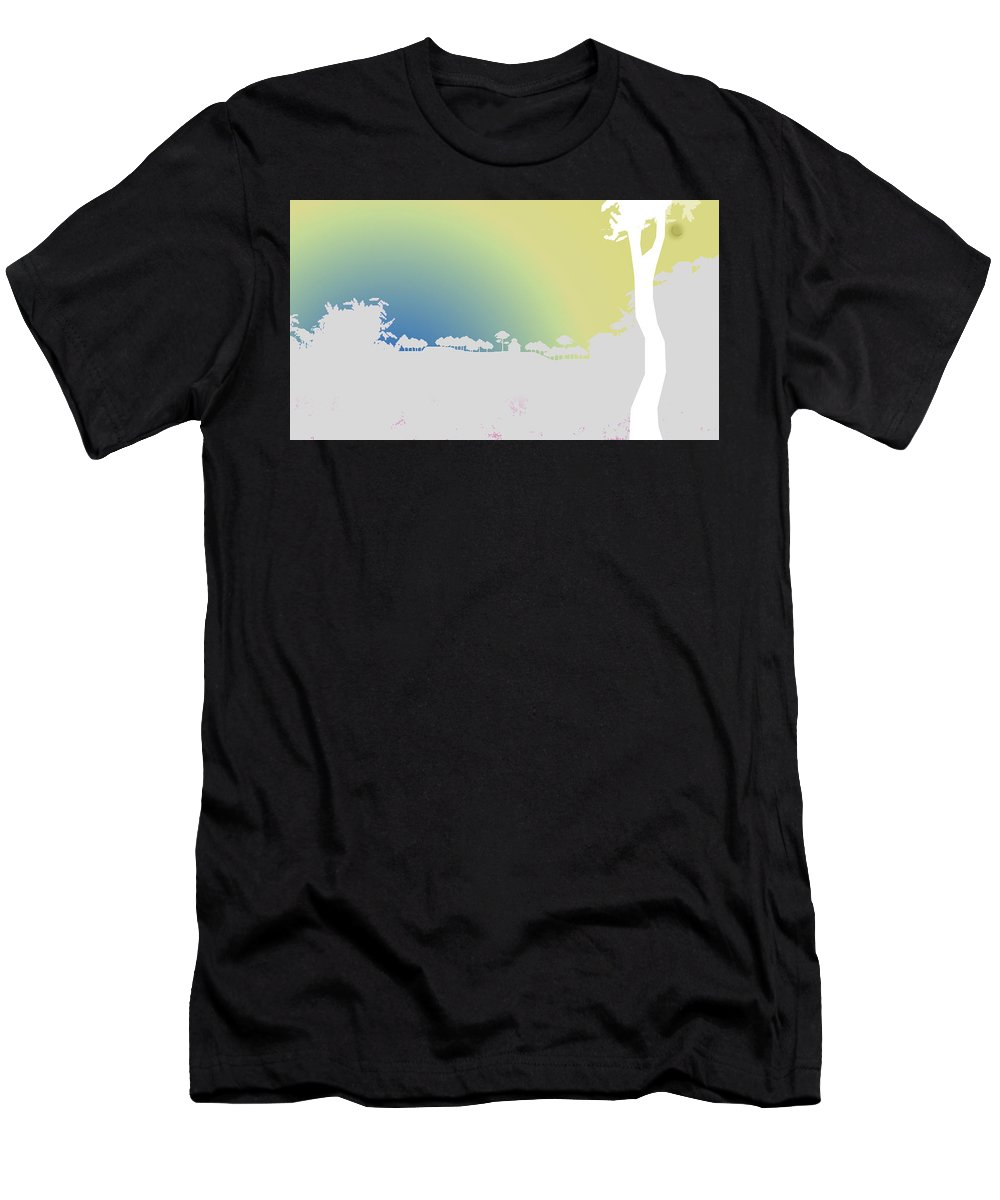 Digital Men's T-Shirt (Athletic Fit) featuring the digital art Before Dawn by Anil Nene