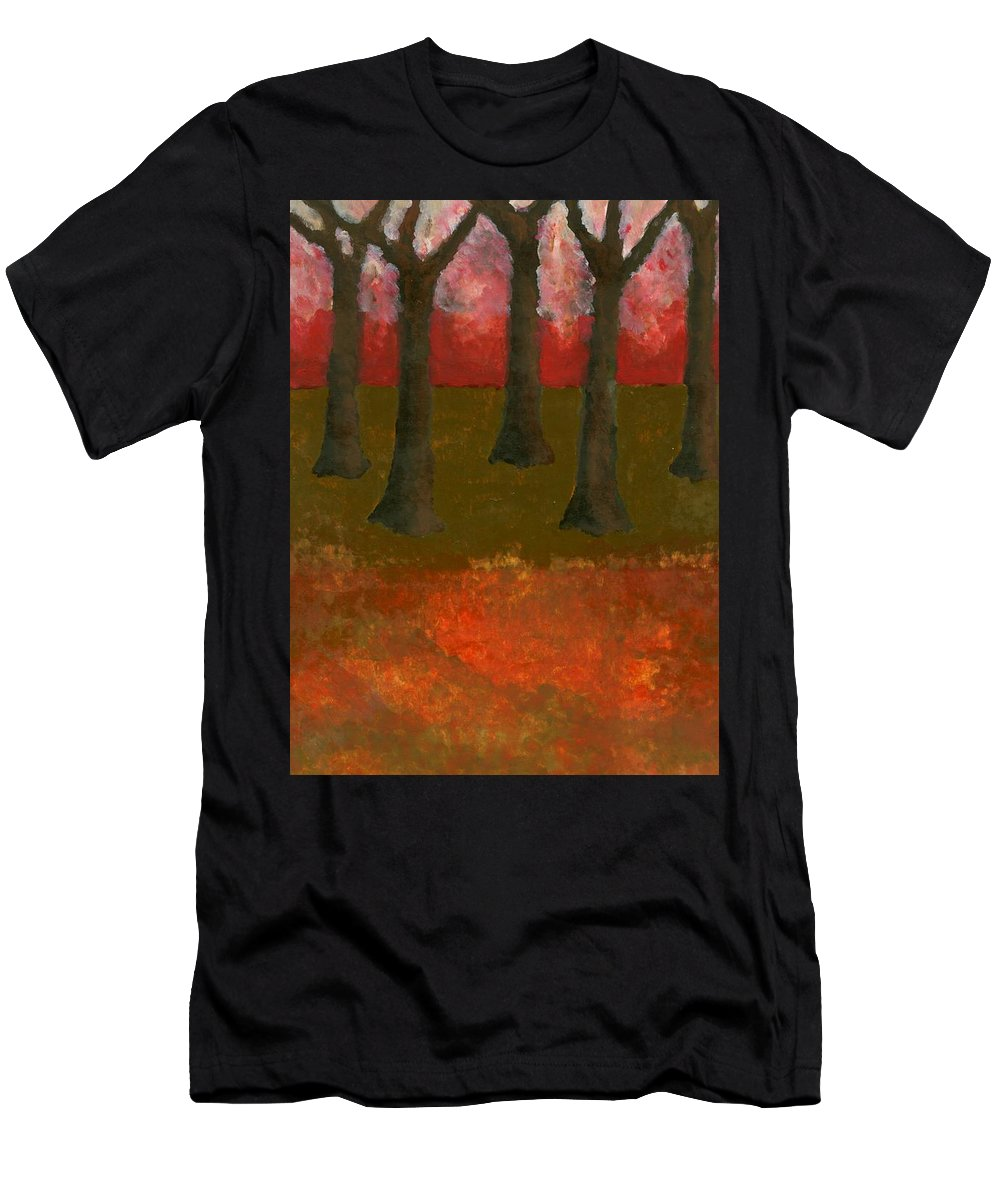 Colour Men's T-Shirt (Athletic Fit) featuring the painting Before Spring by Wojtek Kowalski
