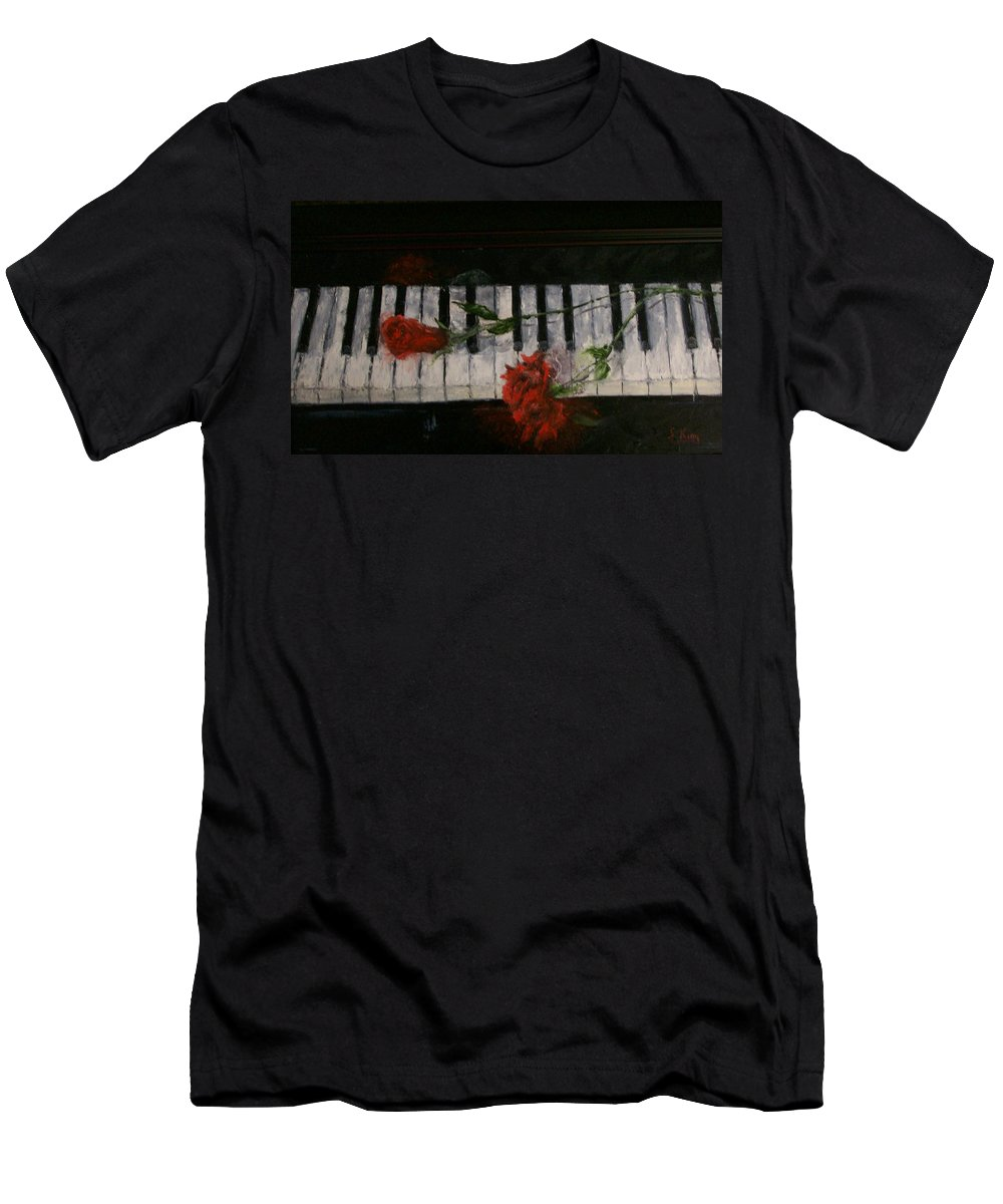 Still Life Men's T-Shirt (Athletic Fit) featuring the painting Before The Concert by Stephen King