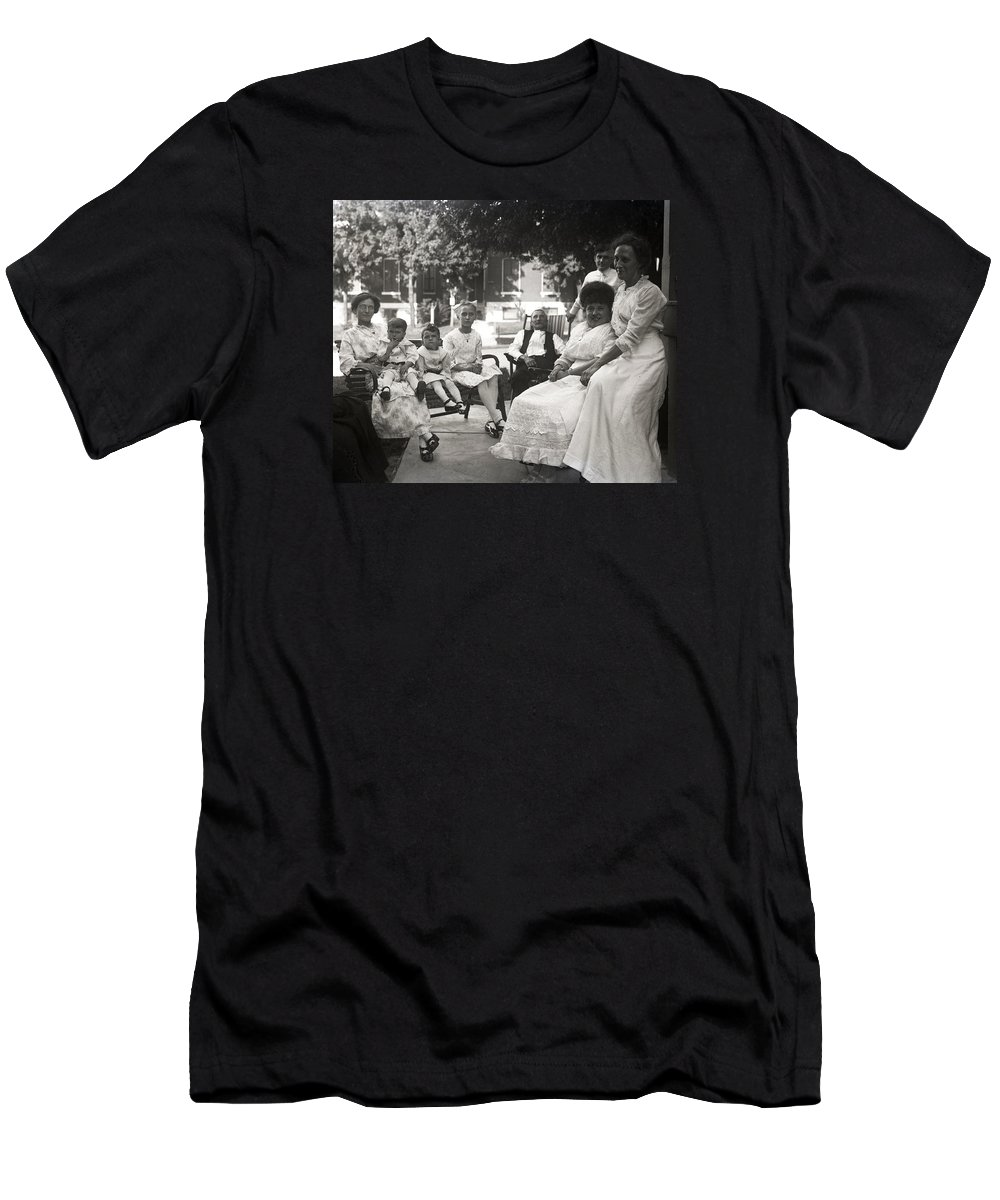Edwardian Men's T-Shirt (Athletic Fit) featuring the photograph Before The Information Age by Rachel Knight
