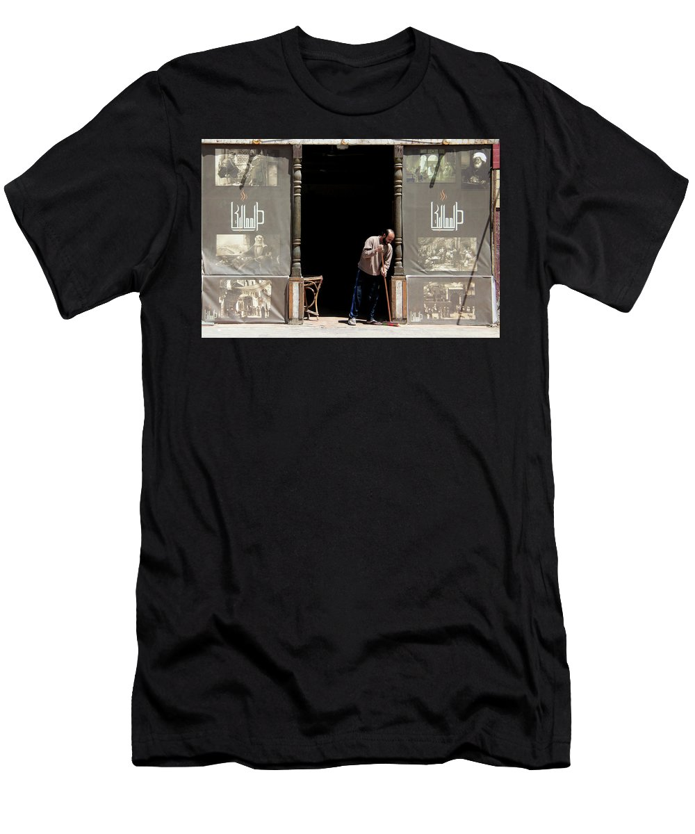 Jezcself Men's T-Shirt (Athletic Fit) featuring the photograph Before The Throng by Jez C Self