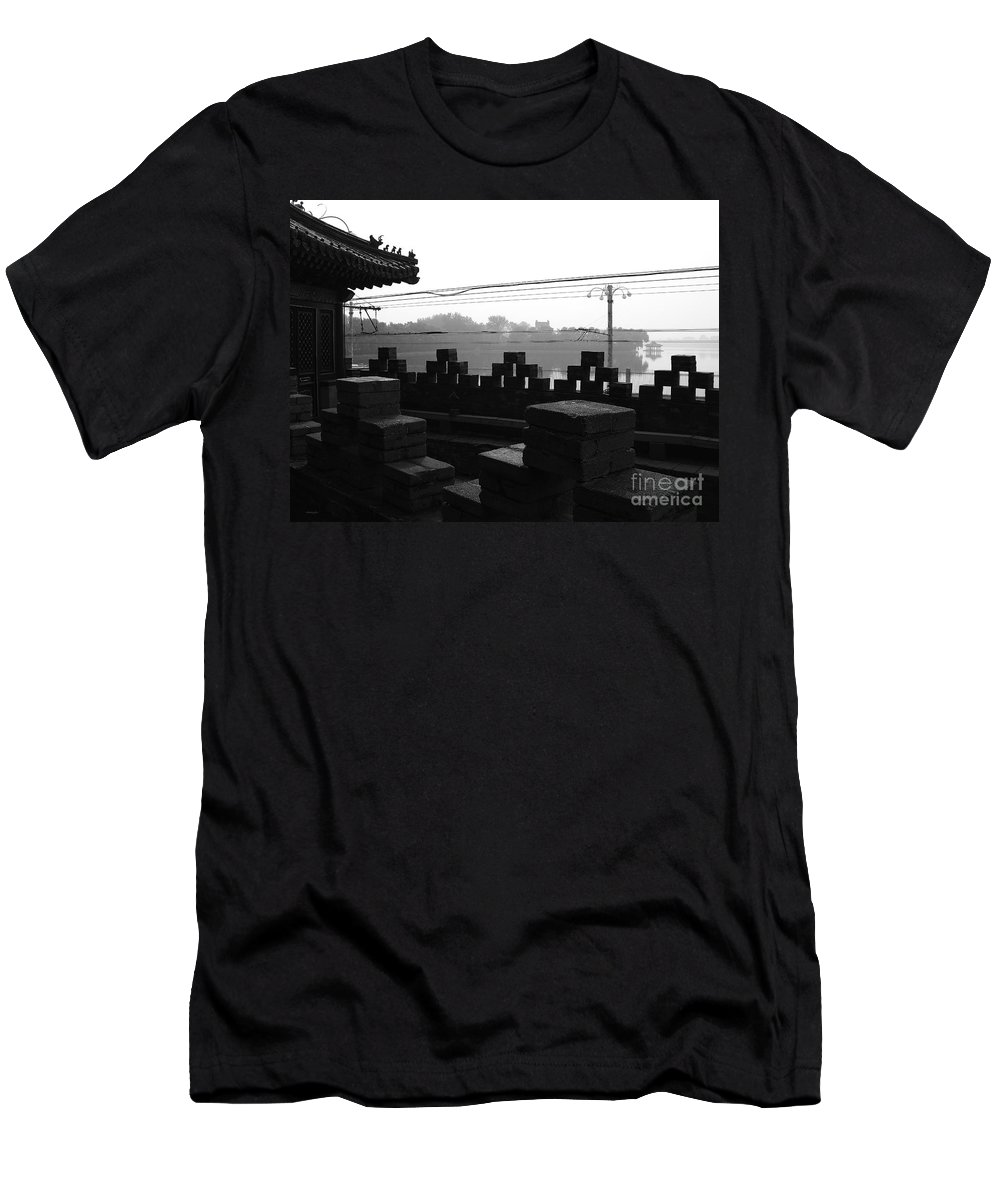 Beijing Men's T-Shirt (Athletic Fit) featuring the photograph Beijing City 1 by Xueling Zou
