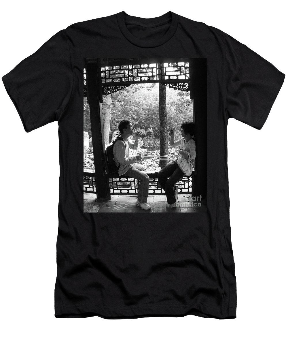 Beijing Men's T-Shirt (Athletic Fit) featuring the photograph Beijing City 14 by Xueling Zou