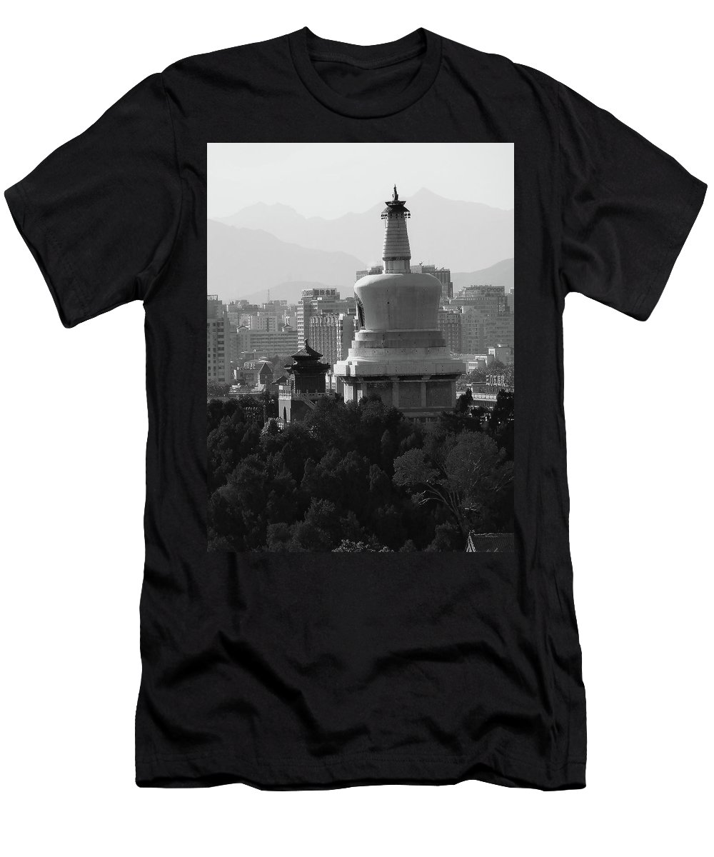 Beijing Men's T-Shirt (Athletic Fit) featuring the photograph Beijing City 3 by Xueling Zou